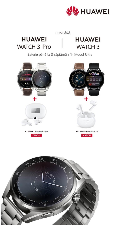 precomanda Huawei Watch 3 Pro si Watch 3